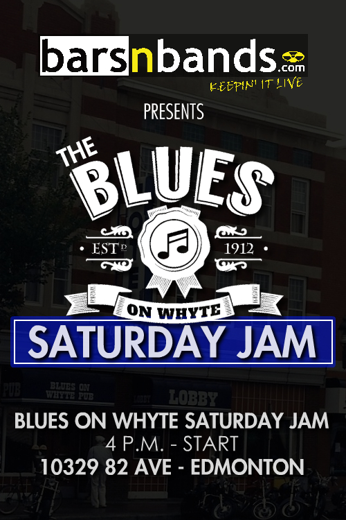 Blues on Whyte jam page poster Edm