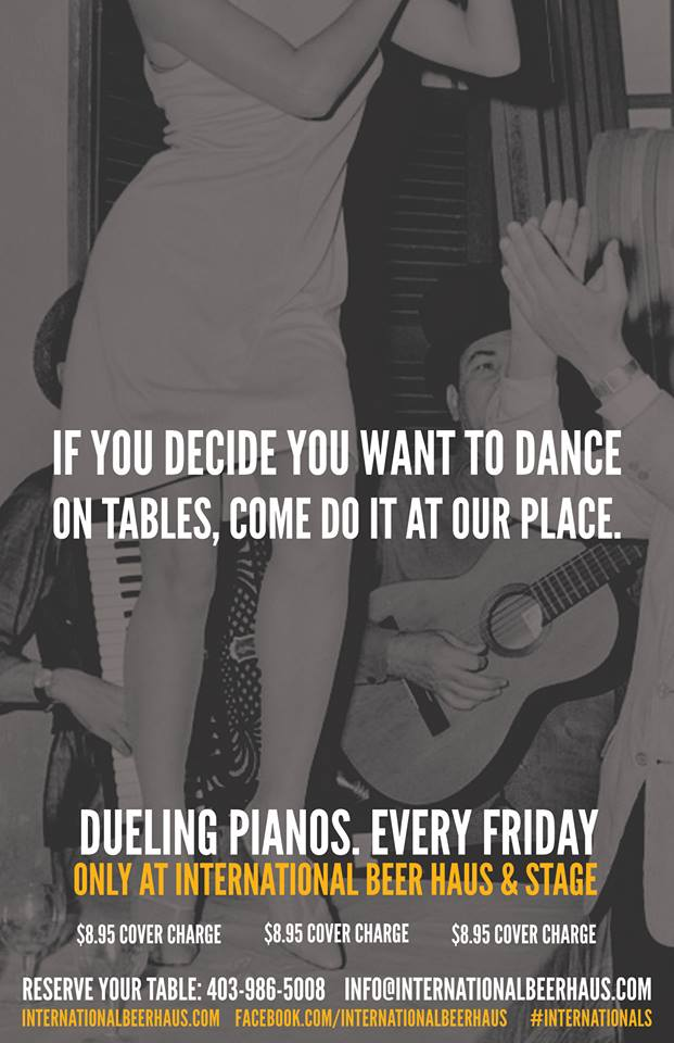 Dueling Pianos - Every Friday at International Beer Haus