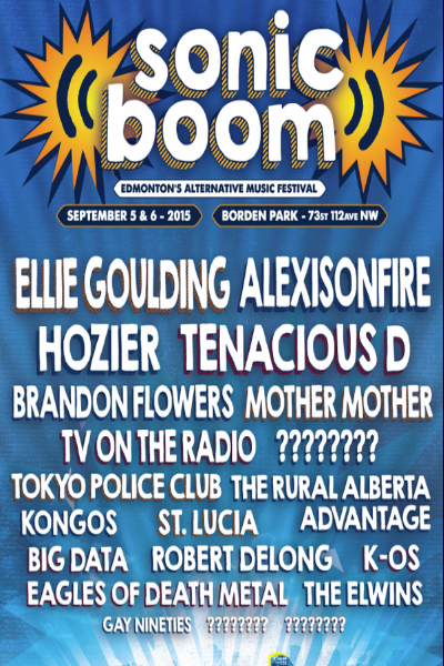 The Lineup For Sonic Boom 2015!!!! - SONiC 102.9