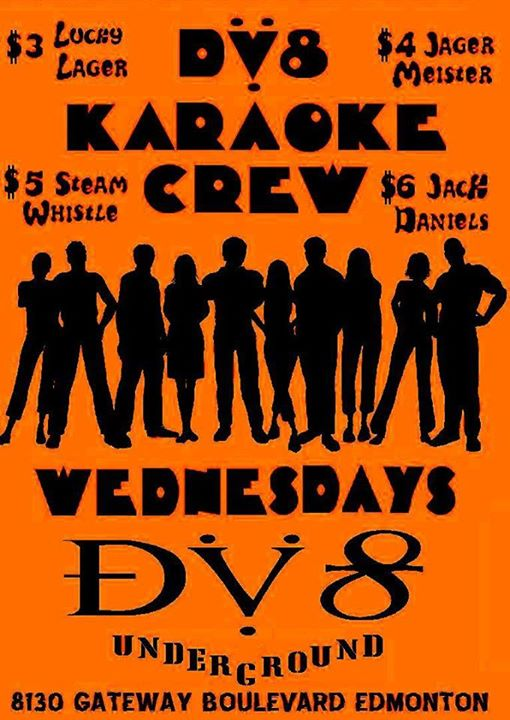 DV8 KARAOKE CREW WEDNESDAY