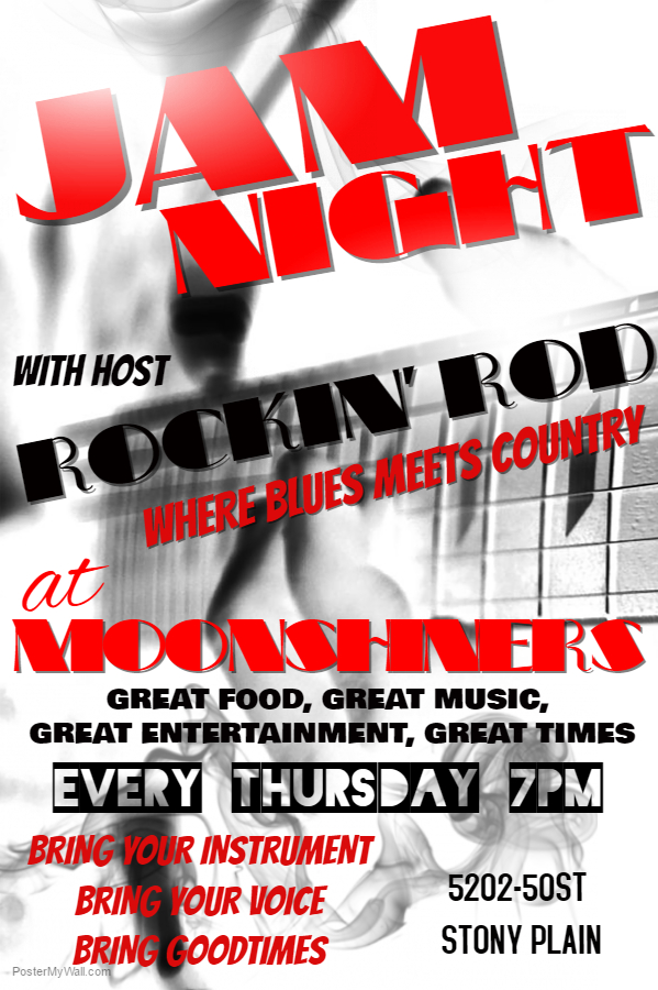 Moonshiners Jam Night with Rockin' Rod where blues meets country
