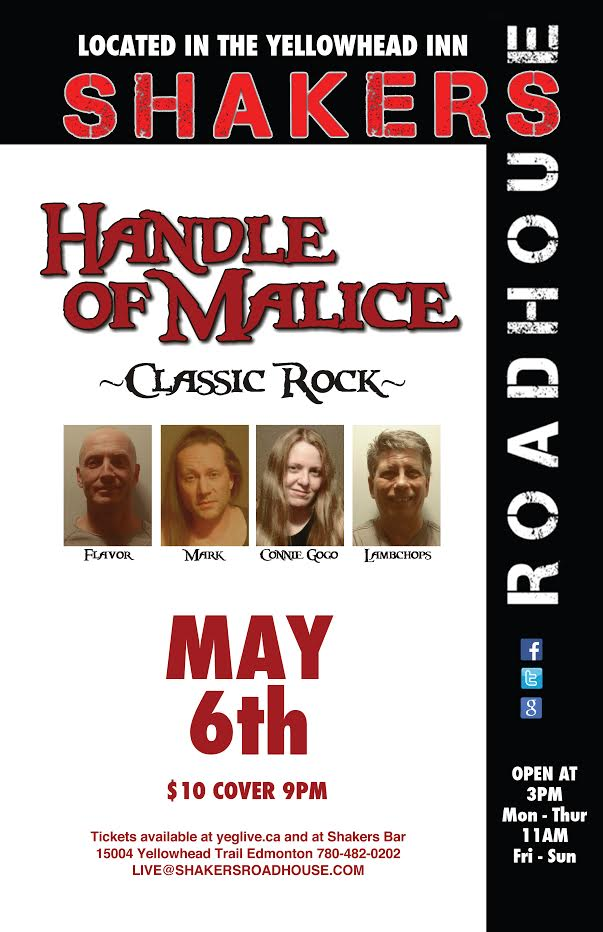 Handle of Malice @ Shakers Roadhouse