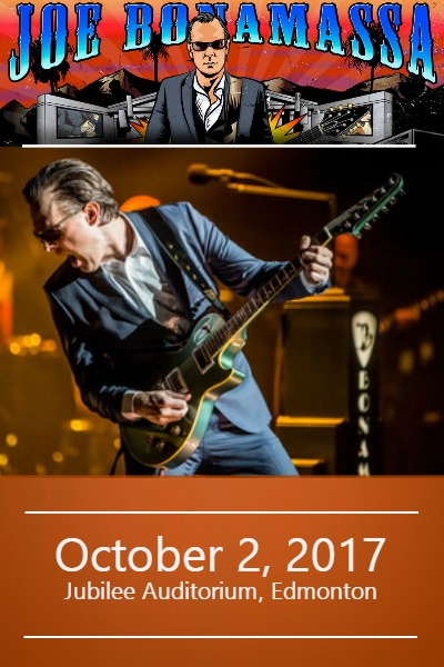 Joe Bonamassa @ The Jubilee Auditorium Edmonton