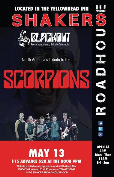 Blackout (Scorpions Tribute) W/ The Knockouts @ Shakers Roadhouse