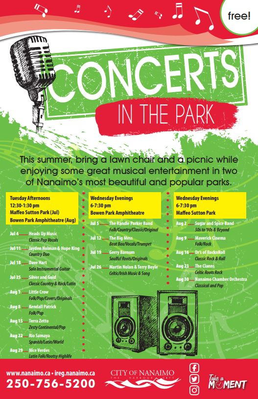 Tuesday Concerts in the Park @ Maffeo Sutton Park