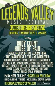 Legends Valley Music Festival: Camping, Music & Cannabis Expo