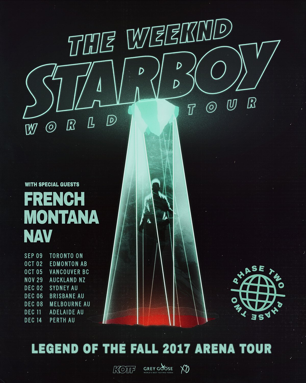 The WEEKND with guests French Montana and RAV @ Rogers Place