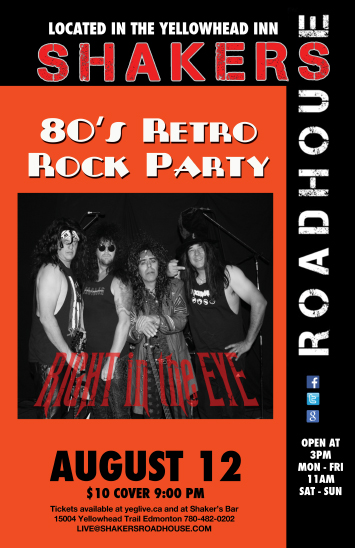 Dress up 80's Rock Retro Party with Right In The Eye!