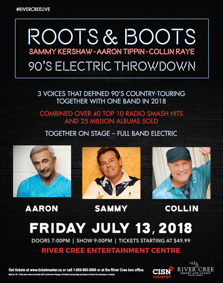 Roots & Boots 90's Electric Throwdown @ River Cree Resort & Casino