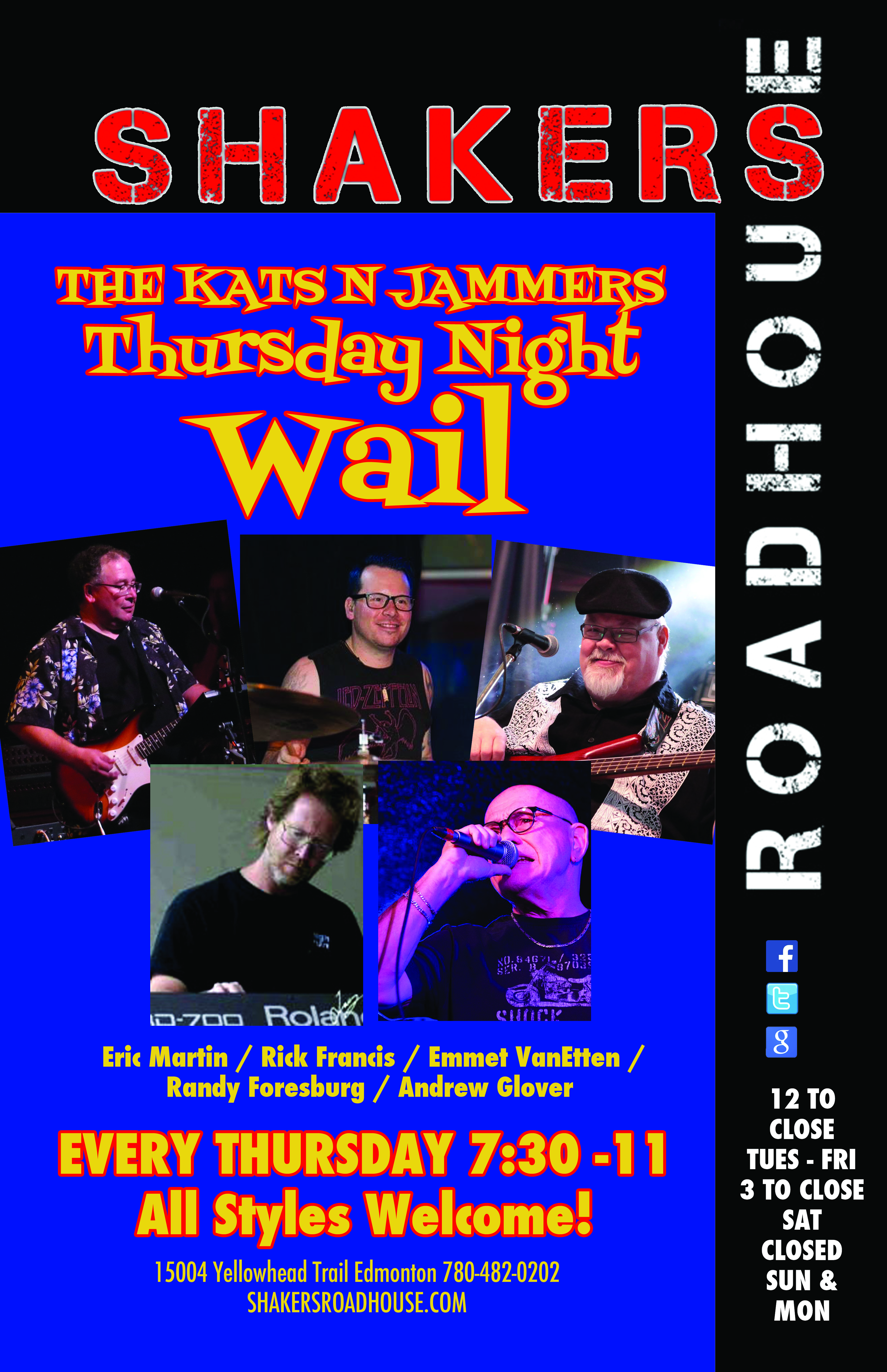 The Kats N Jammers Thursday Night Wail