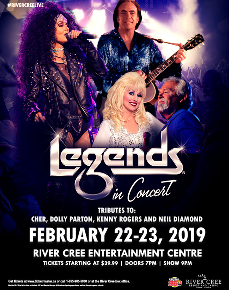 Legends in Concert – featuring Cher, Dolly Parton, Kenny Rogers and Neil Diamond Tributes @ River Cree Casino - The Venue