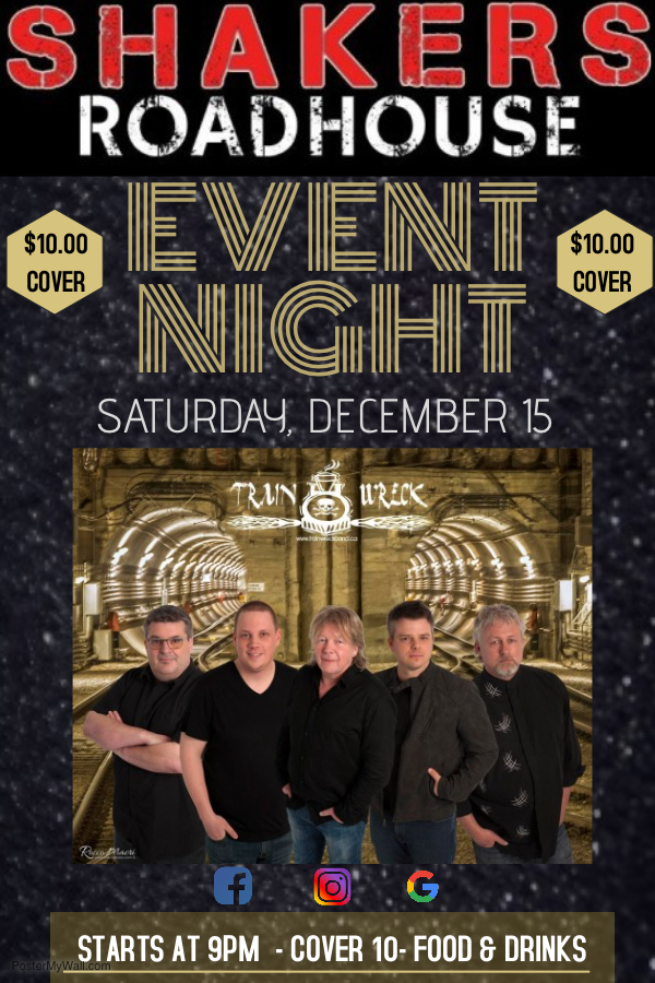 Event Night with Train Wreck @ Shakers Roadhouse
