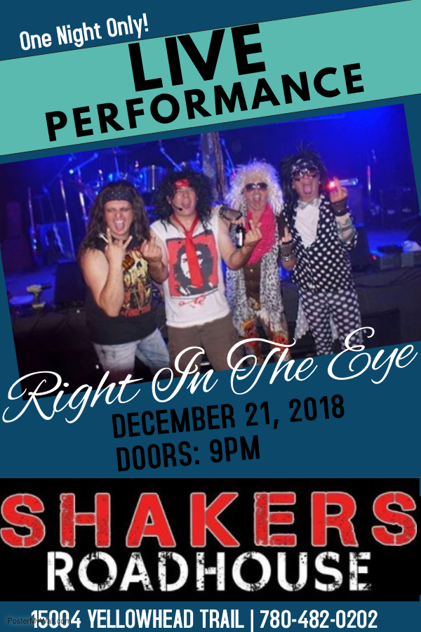 Right in the Eye @ Shakers Roadhouse