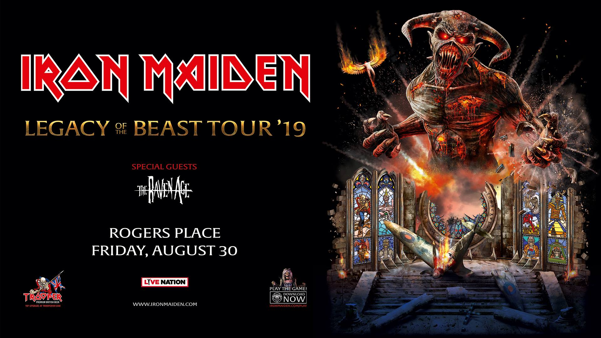 Iron Maiden Legacy Of The Beast Tour 2019 @ Rogers Place Edmonton