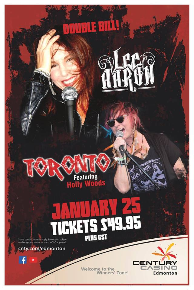 Double Bill: Lee Aaron and Toronto ft. Holly Woods @ Century Casino Edmonton