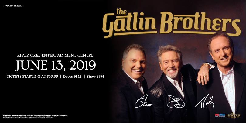 Larry, Steve & Rudy: The Gatlin Brothers @ River Cree Casino