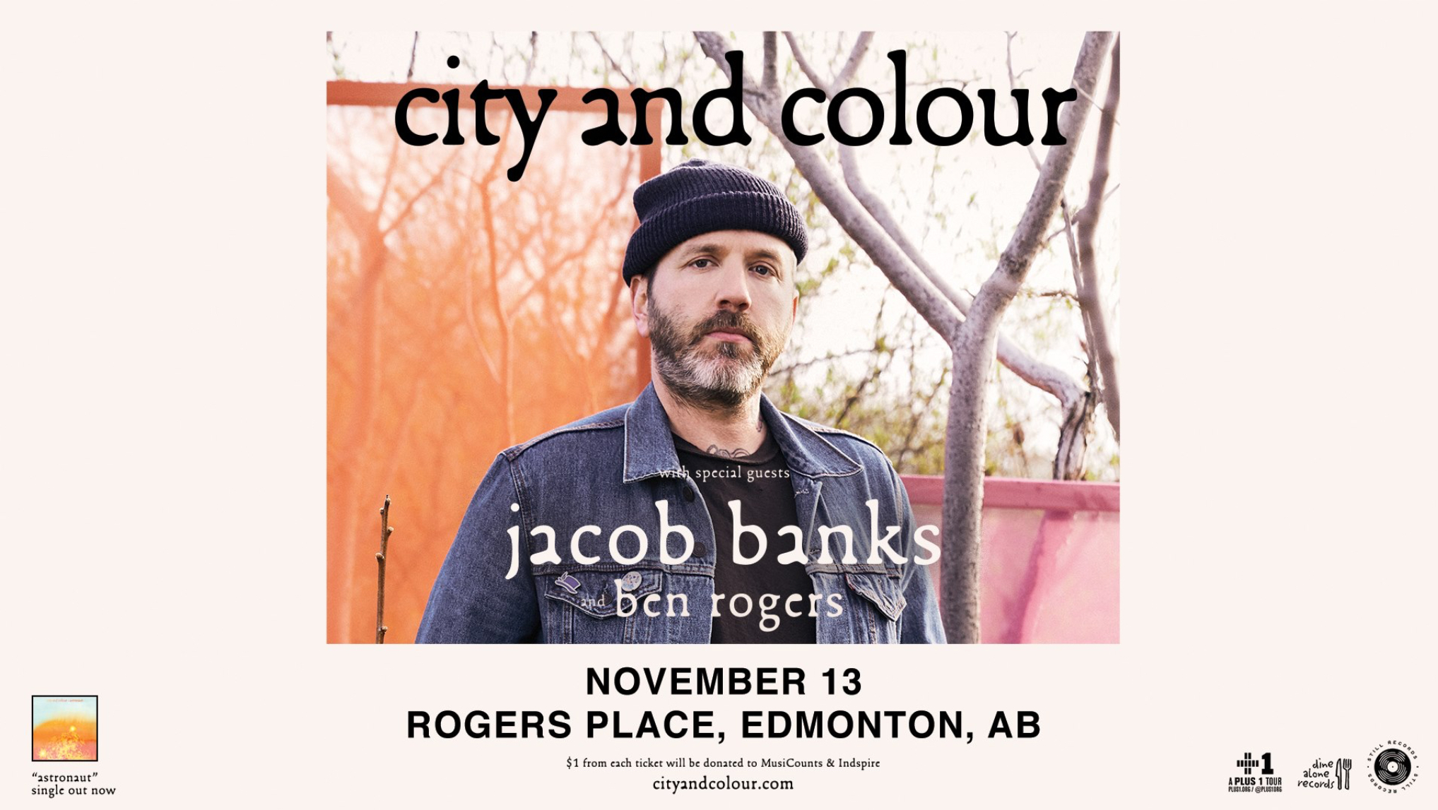 City and Colour w/ Jacob Banks & Ben Rogers @ Rogers Place