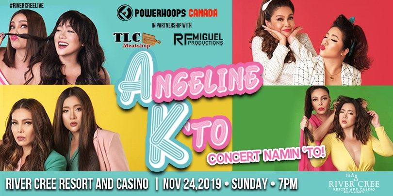Angeline Quinto and K Brosas @ River Cree Resort and Casino