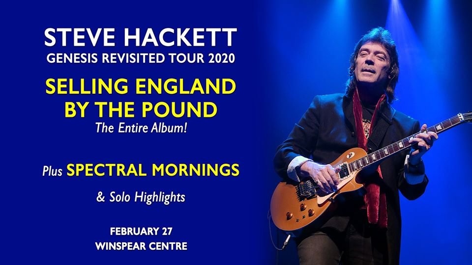 Steve Hackett: Genesis Revisited Tour 'Selling England by the Pound' @ The WInspear Centre