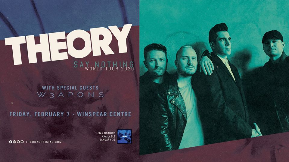 Theory of a Deadman - Say Nothing World Tour 2020 @ The WInspear Centre