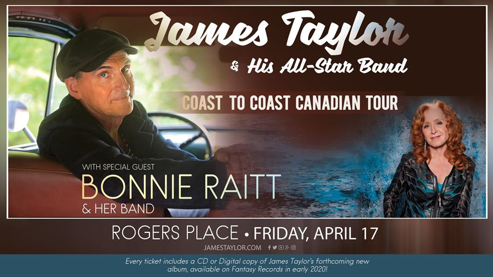 James Taylor & His All-Star Band with Bonnie Raitt @ Rogers Place