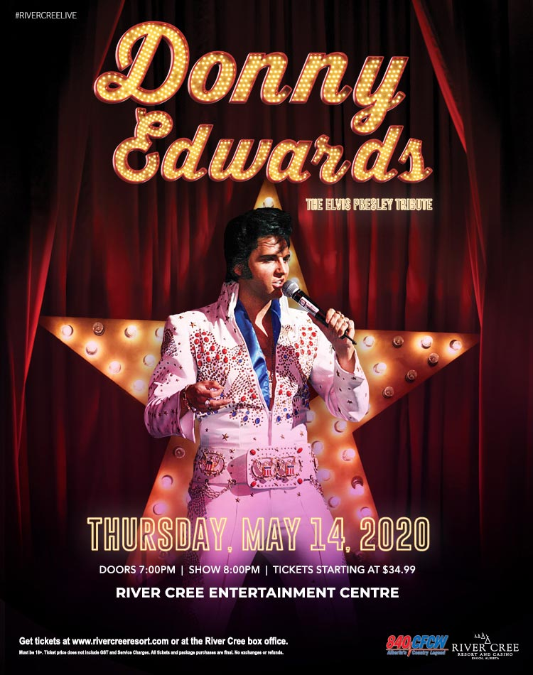 DONNY EDWARDS TRIBUTE TO ELVIS PRESLEY @ River Cree Resort and Casino