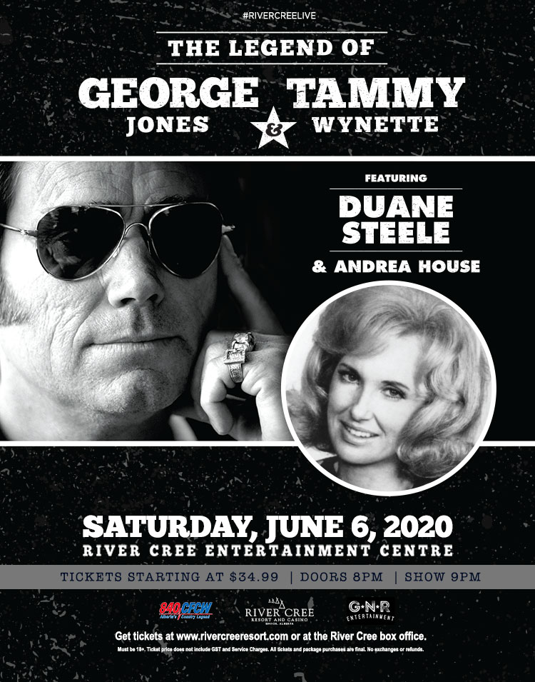 THE LEGEND OF GEORGE JONES AND TAMMY WYNETTE @ River Cree Resort and Casino